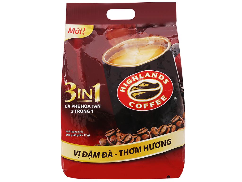 Cà phê sữa Highlands 3 in 1 680g