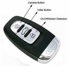 Camera ngụy trang hình móc khóa Audi