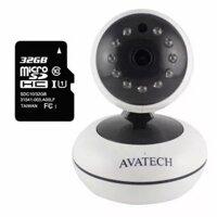 Camera quan sát IP Wi-Fi AVATech AVT-202 1.0, kèm thẻ nhớ 32GB