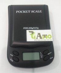 Cân tiểu ly pha chế mỹ phẩm, hương liệu FEM-200 (200g/0.01g)