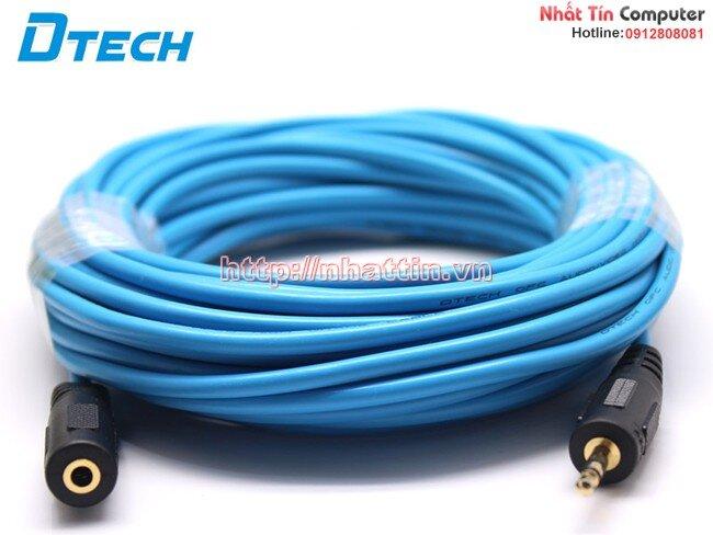 Cáp Audio 3.5mm nối dài loa 10m Dtech DT-6218