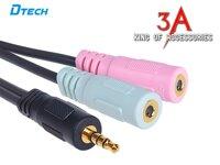 Cáp chia Audio 3.5mm ra Mic và Loa chính hãng Dtech DT-6237