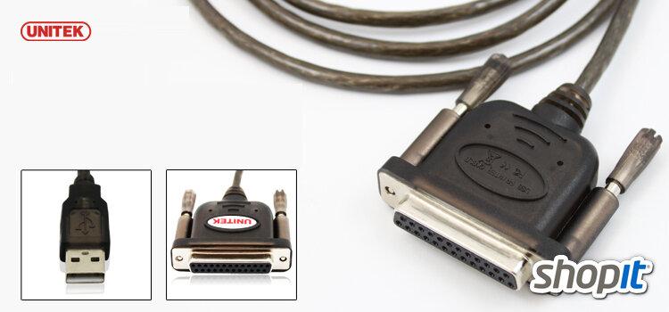 Cáp chuyển đổi USB sang LPT - chính hãng UNITEK Y-121