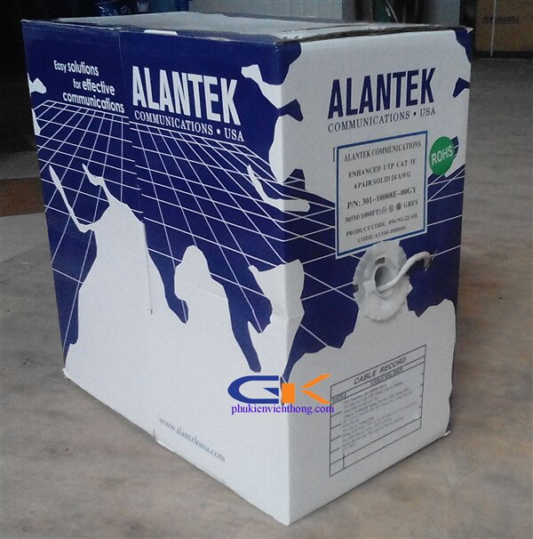 Cáp mạng Alantek cat5 UTP