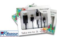 Cáp MHL Micro USB sang HDMI đa năng cho điện thoại Samsung,LG,Sky,Sony,HTC..