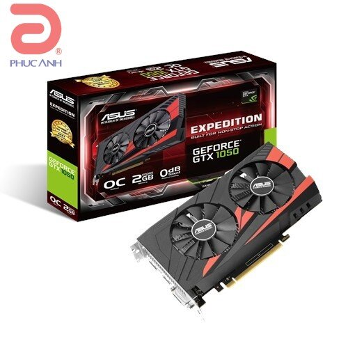 Card đồ họa Asus EX-GTX1050-O2G (NVIDIA Geforce/ 2Gb/ DDR5/ 128 Bits)
