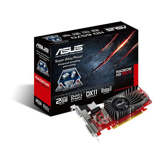 Card đồ họa (VGA Card) Asus HD6570-2GD3-L - AMD Radeon HD6570, 2GB, PCI Express 2.1, 128-bit, DDR3
