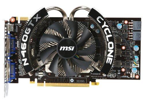 Card đồ họa (VGA Card) MSI N460GTX Cyclone 1GD5/OC - Geforce GTX460, GDDR5,  1GB , 256-bit, PCI-E 2.0