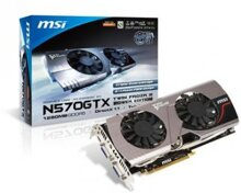 Card đồ họa (VGA Card) MSI N570GTX-M2D12D5 - GeForce GTX 570, GDDR5, 1280MB, 320 bits, PCI E 2.0