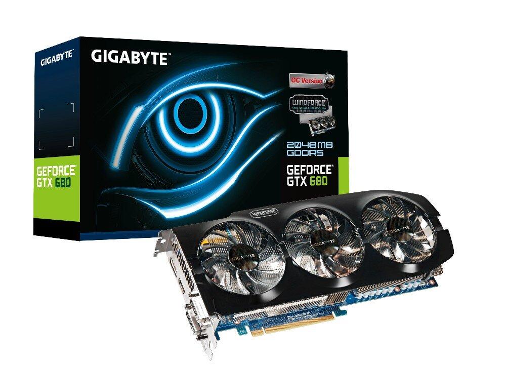 Card đồ họa (VGA Card) Gigabyte GV N680OC - NVIDIA GeForce GTX 680, GDDR5, 4GB, 256-bit, PCI Express 3.0