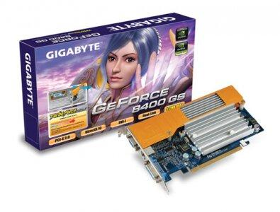 Card đồ họa (VGA Card) Gigabyte 512Mb- NX84S512HP - GeForce 8400GS, GDDR2, 512 MB, 64 bit, PCI-E 2.0
