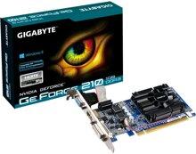 Card đồ họa (VGA Card) Gigabyte GV-N210D3-1GI - NVIDIA GeForce 210, 1GB RAM, GDDR3, 64 bit, PCI Express 2.0