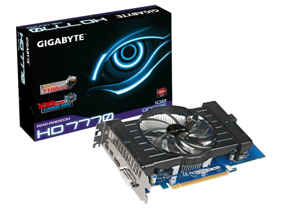 Card đồ họa (VGA Card) Gigabyte GV-R777OC-1GD - AMD Radeon HD7770, 1GB GDDR5, 128-bit, PCI-E 2.1