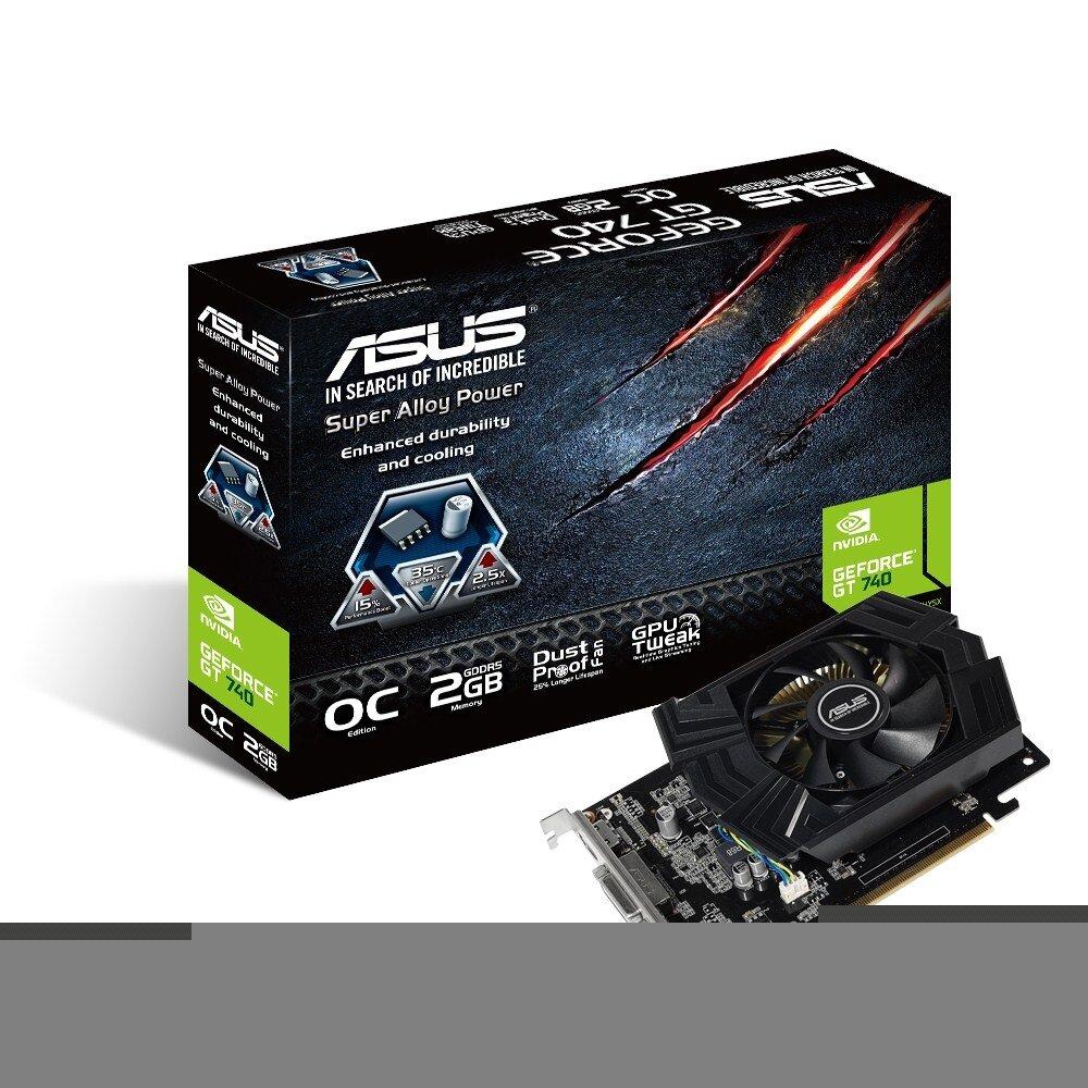 Card màn hình Asus GT740-OC-2GD5 (Geforce GT740/ 2Gb/ DDR3/ 128Bit)