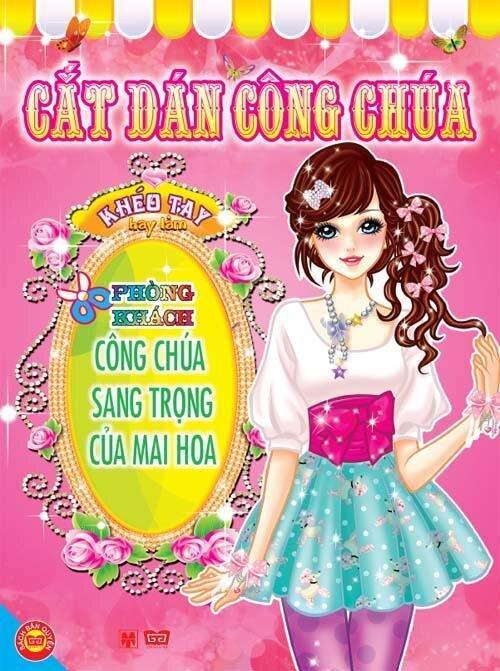 Cắt dán công chúa: Phòng khách công chúa sang trọng của Mai Hoa - Sichuan Children