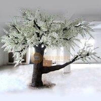 Cây hoa anh đào giả trang trí nội thất DJ155