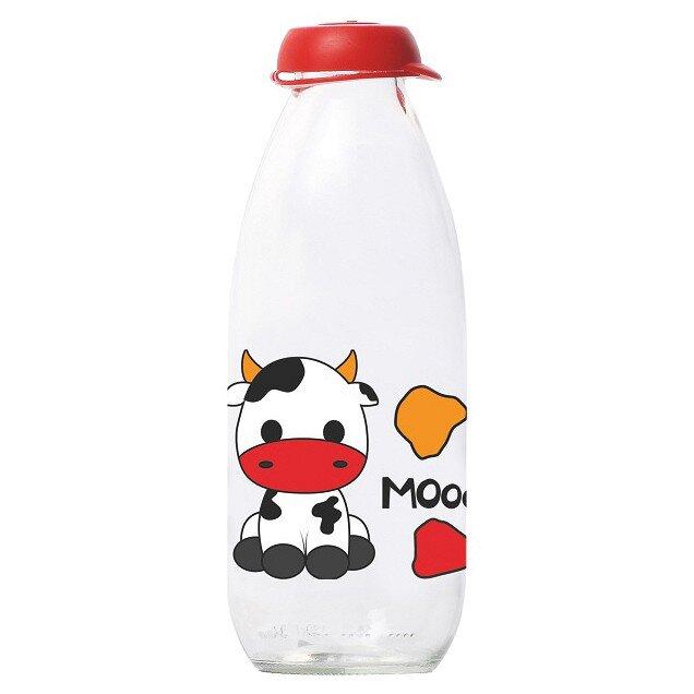 Chai Đựng Sữa Tươi Thủy Tinh Herevin Có Hoa Văn 111713 - 1 Lít