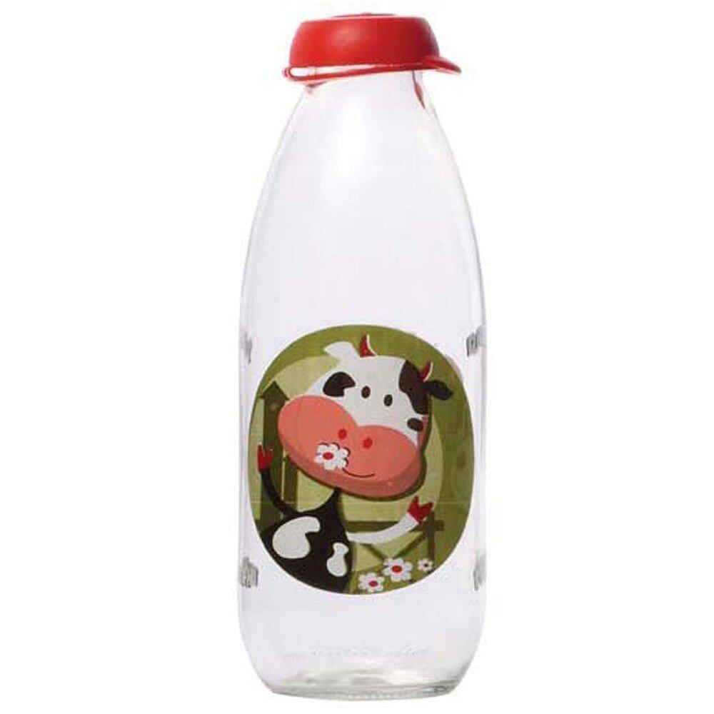 Chai Đựng Sữa Tươi Thủy Tinh Herevin Có Hoa Văn 111701 - 1000 ml