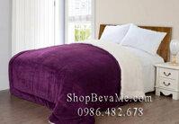Chăn lông cừu Blueberry 2,2x2,4m loại 5kg màu tím
