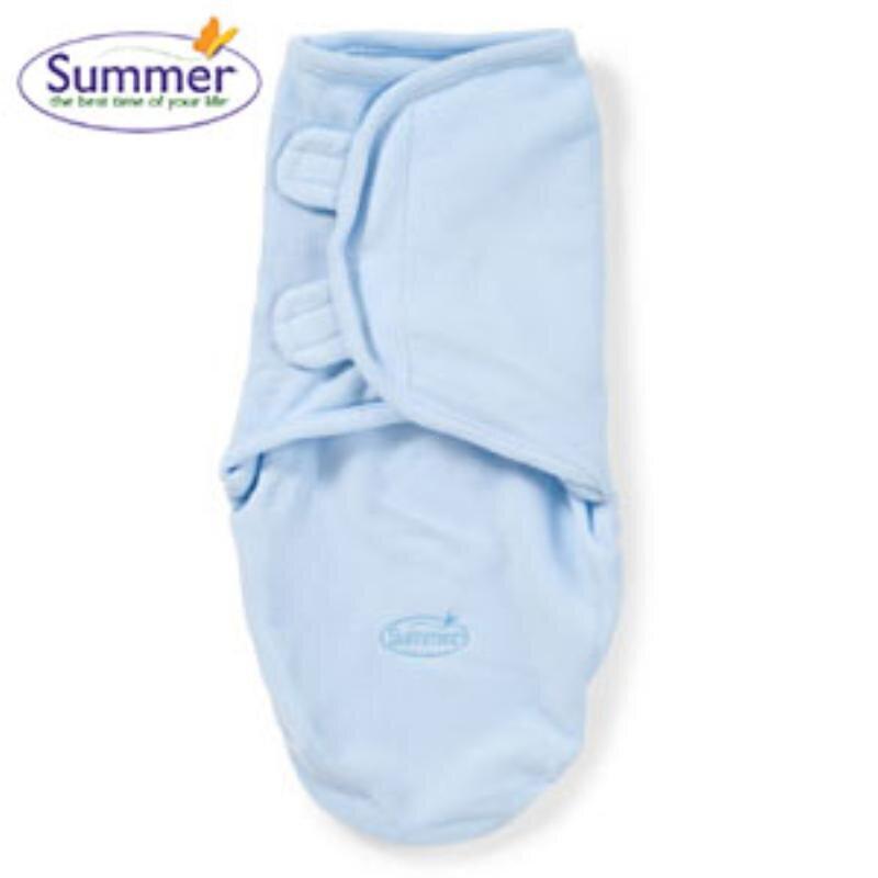 Chăn quấn nỉ Summer cho bé xanh lơ - SM73510A