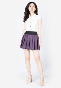 Chân váy ngắn dạ xếp ly SoYoung SKIRT 003