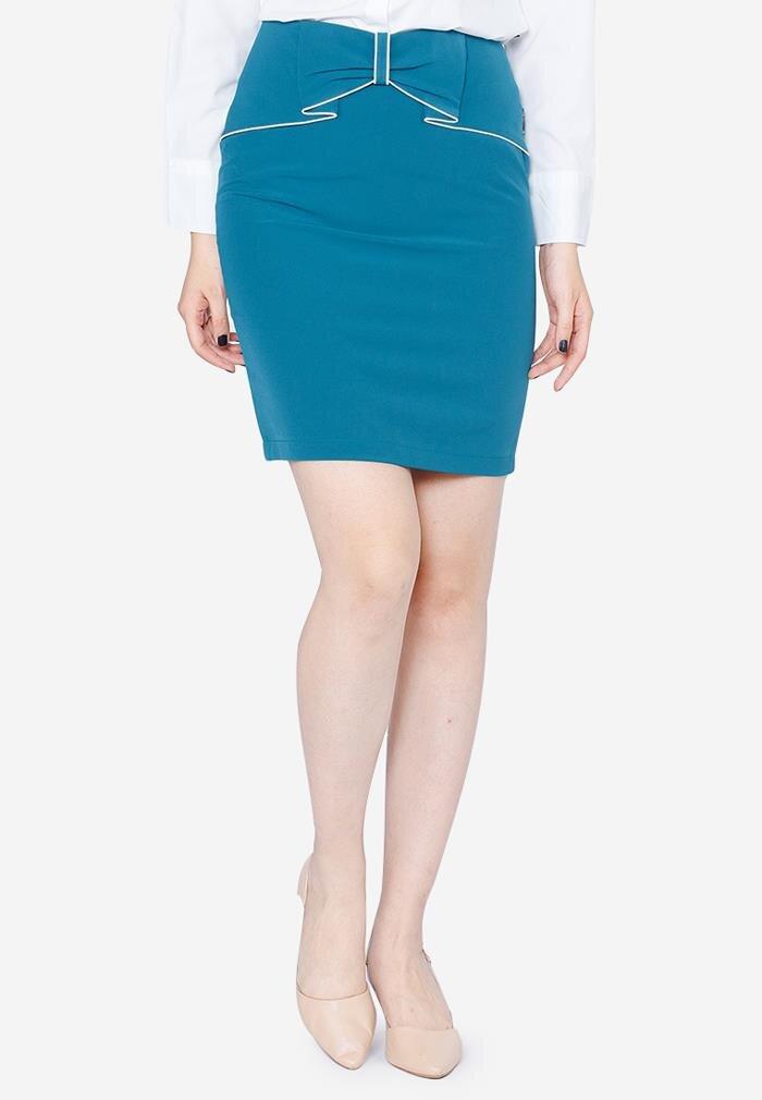Chân váy ôm cạp nơ The One Fashion VDS1041XA