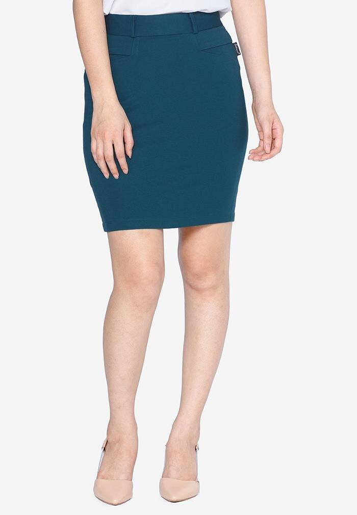 Chân váy ôm màu xanh ngọc The One Fashion VDS1881XD1S