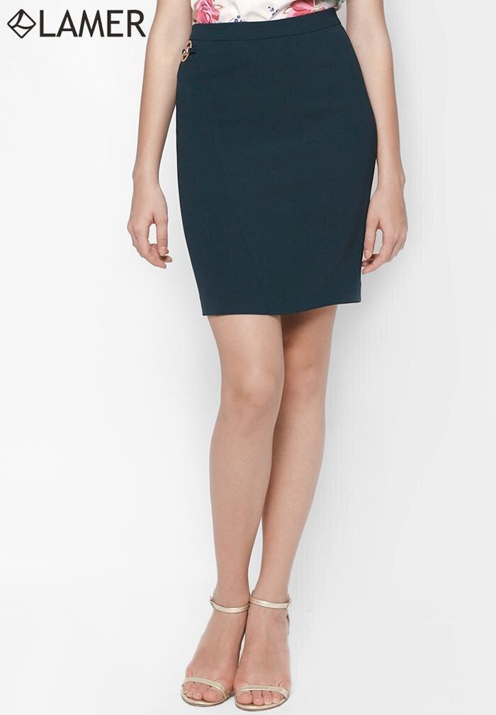 Chân váy ôm phối khoen trang trí Lamer LM02601245