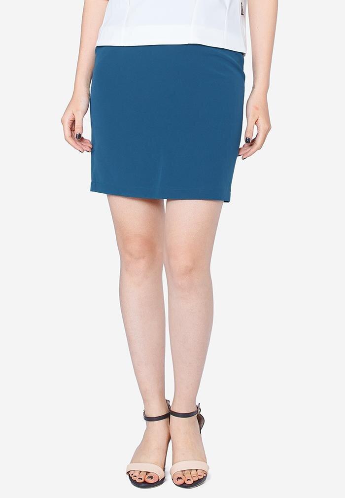 Chân váy ôm xanh cổ vịt The One Fashion VDS1511XDA