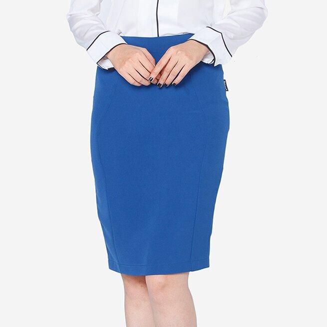 Chân váy ôm xanh dương The One Fashion VDS2221GXA