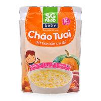 Cháo tươi thịt bằm và bí đỏ SG Food gói 240g