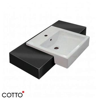 Chậu rửa bán âm bàn Cotto C02717