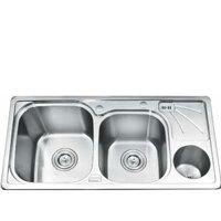 Chậu rửa bát 2 hố có hộp Inox Gorlde GD9035 (GD-9035)