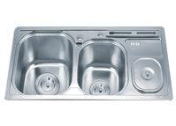 Chậu rửa bát 2 hố có hộp Inox Gorlde GD5503 (GD-5503)