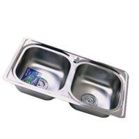 Chậu rửa bát 2 hố inox Tân Mỹ  TM18 (TM-18)