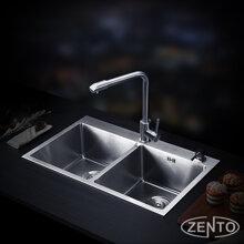 Chậu rửa bát inox 2 hố cân Zento HD8245-201HM-C