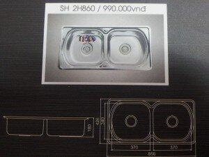 Chậu rửa bát Sơn Hà SH 2H860