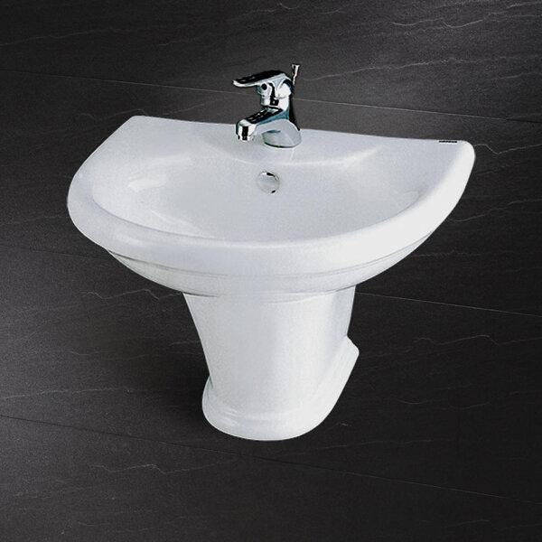 Chậu rửa chân lửng Caesar L2230 + P2433