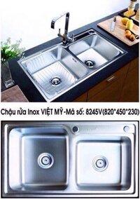 Chậu rửa chén Inox Việt Mỹ 10048LK