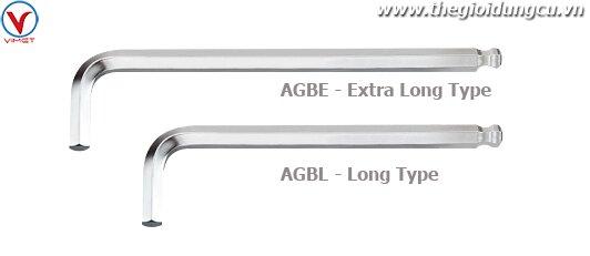 Chìa lục giác đầu bi chữ L TOPTUL AGBE1E09
