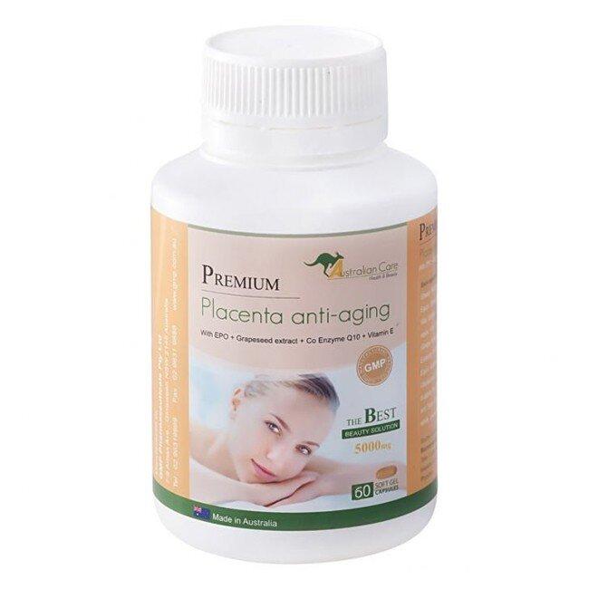 Chiết xuất nhau thai cừu dạng viên uống Premium Placenta Anti aging 120 viên/hộp