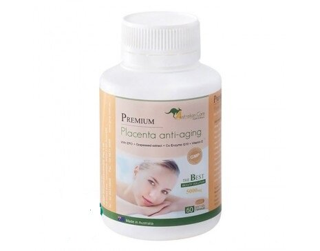 Chiết xuất nhau thai cừu dạng viên uống Premium Placenta Anti-aging 60 viên/hộp