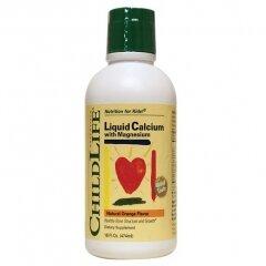 Childlife Liquid Calcium and Magnesium Orange, 474ml - bổ sung canxi và magie cho bé chiều cao vượt trội