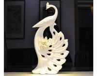 Chim công gốm sứ hoa vàng