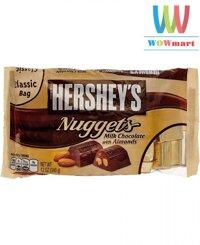 Chocolate bơ sữa hạnh nhân Hershey's Nuggets 340g