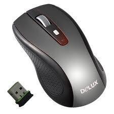 Chuột máy tính Delux DLM-1486GL+G01UF - chuột quang không dây