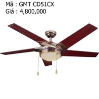 Quạt trần đèn trang trí cánh gỗ GMT CD51CX