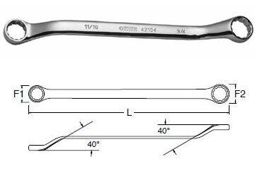 Cờ lê 2 vòng miệng tròn Sata 42-201 (42201), 8x10mm