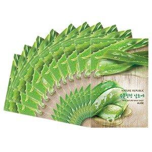 Combo 10 mặt nạ Nature Republic Real Nature Aloe Mask Sheet 23ml