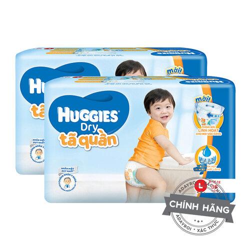Combo 2 tã-bỉm quần Huggies Pants Jumbo L36
